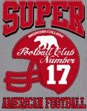 Tipografia do esporte do futebol; gráficos do t-shirt; vetores Foto de Stock
