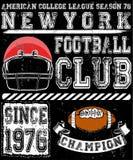 Tipografia do esporte do futebol; gráficos do t-shirt; vetores Imagem de Stock