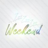 Tipografia do fim de semana Imagens de Stock Royalty Free
