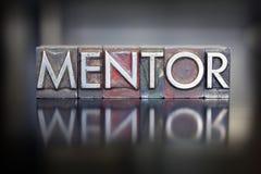 Tipografia do mentor Imagens de Stock