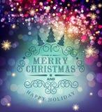 Tipografia do Natal do molde do vetor Molde para o carro do Natal Foto de Stock