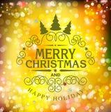 Tipografia do Natal do molde do vetor Molde para o carro do Natal Imagens de Stock