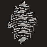 Tipografia do t-shirt de New York City, cópia da forma do nyc Vetor Fotografia de Stock