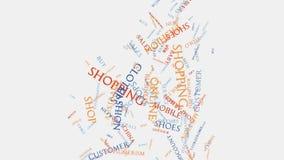 Tipografia do texto do wordcloud da compra do consumidor do retalho da venda da loja ilustração royalty free