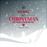 Tipografia dos feriados na paisagem abstrata do inverno Imagem de Stock