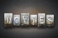 Tipografia dos filmes Imagens de Stock
