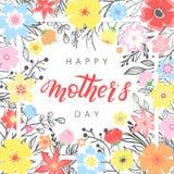 Tipografia feliz do dia de mães Imagens de Stock