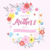 Tipografia feliz do dia de mães Foto de Stock Royalty Free