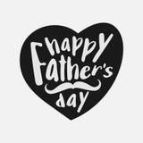 Tipografia feliz do dia do ` s do pai com coração Fotos de Stock Royalty Free
