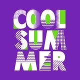 Tipografia fresca della maglietta di estate, illustrazione di vettore Fotografia Stock Libera da Diritti