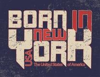 Tipografia Guote grafico di New York City SOPPORTATO Immagini Stock Libere da Diritti