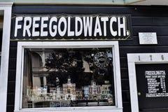 Tipografia libera dell'orologio di oro, 2 Fotografia Stock Libera da Diritti