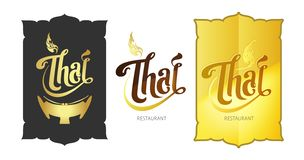 """Tipografia logo """"tailandese """"di concetto - L'archivio di vettore illustrazione vettoriale"""