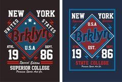 02 tipografia New York City, vetor Imagem de Stock