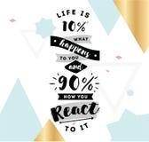 Tipografia para o cartaz, o convite, o cartão ou o t-shirt Imagem de Stock