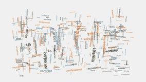 Tipografia relacionada da montagem das palavras do mercado incorporado do negócio Foto de Stock