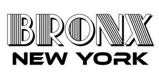 Tipografia urbana de Bronx New York City para o projeto moderno do fato da cópia de tela de seda ilustração royalty free