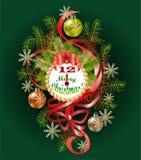 Tipografico dei precedenti con gli elementi di Natale immagini stock libere da diritti