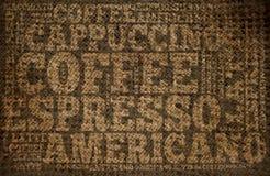 Kawowy druk Zdjęcie Royalty Free