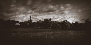 Tipologia da nuvem, dia chuvoso no meio de outubro em Novo Brunswick, Canadá fotos de stock royalty free