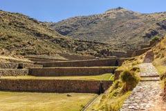 Tipon fördärvar Cuzco Peru Arkivbilder