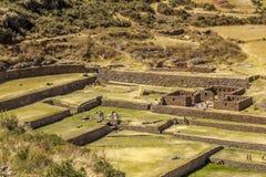 Tipon rovina Cuzco Perù fotografia stock