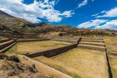 Tipon rovina il peruviano le Ande Cuzco Perù fotografie stock