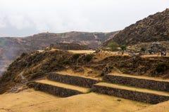 Tipon - rovine di inca dei terrazzi agricoli nel Perù immagini stock libere da diritti