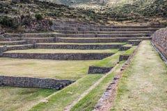 Tipon ruins peruvian Andes  Cuzco Peru Stock Image