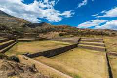 Tipon ruins peruvian Andes  Cuzco Peru Stock Photos