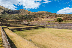 Tipon ruins peruvian Andes  Cuzco Peru Royalty Free Stock Photos