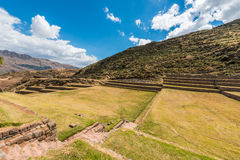 Tipon ruins in the peruvian Andes at Cuzco Peru Stock Photos