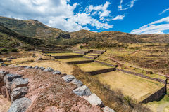 Tipon ruins in the peruvian Andes at Cuzco Peru Royalty Free Stock Photos