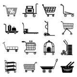 Tipos ícones ajustados, estilo simples do carro ilustração stock