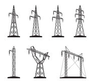 Tipos bondes da torre da transmissão ilustração royalty free