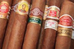Tipos cubanos dos charutos fotografia de stock royalty free