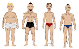 Tipos da figura masculina Imagens de Stock Royalty Free