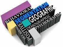 Tipos da segmentação Fotografia de Stock Royalty Free
