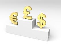 Tipos de cambio de dinero en circulación Imagen de archivo libre de regalías