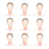 Tipos de cara da mulher Imagem de Stock