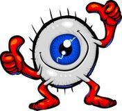 Tipos de carácter - globo del ojo aprobado Imagenes de archivo