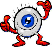 Tipos de caráter - globo ocular de aprovação Imagens de Stock