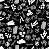Tipos de comida de las pastas negros y modelo gris eps10 Fotografía de archivo libre de regalías