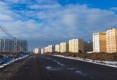 Tipos de construção de construções da cidade Fotos de Stock Royalty Free