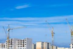 Tipos de construção de construções da cidade Fotos de Stock