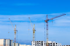 Tipos de construção de construções da cidade Imagem de Stock