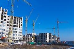 Tipos de construção de construções da cidade Imagem de Stock Royalty Free