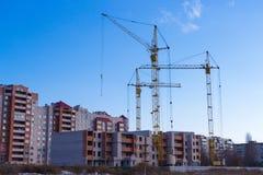 Tipos de construção de construções da cidade Imagens de Stock