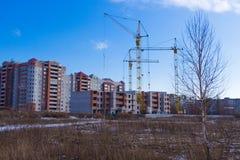 Tipos de construção de construções da cidade Fotografia de Stock