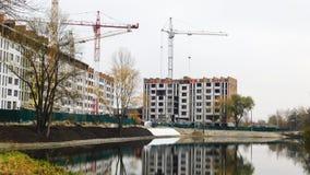 Tipos de construcción de los edificios de la ciudad Foto de archivo libre de regalías